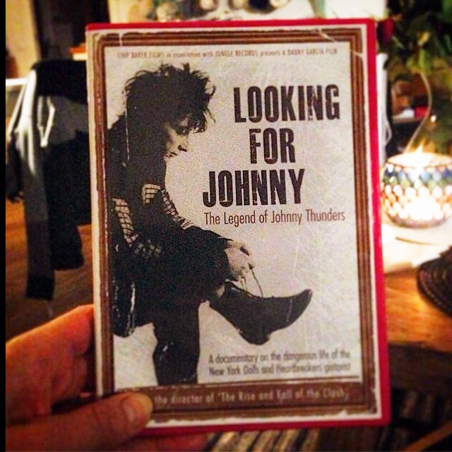 Friday night at home. Great doc. Must see! #johnnythunders #lookingforjohnny #nypunk